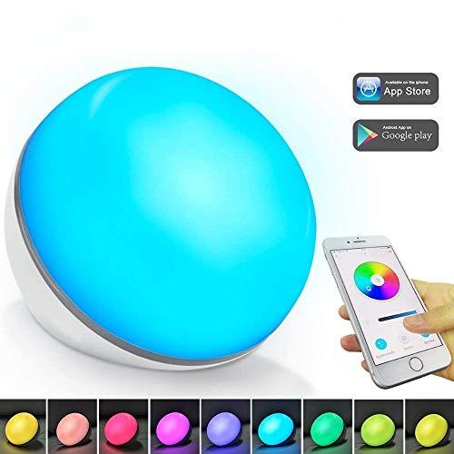 Lampe de table intelligente Compatible avec Amazon Alexa, Google Home WiFi Contrôle par smartphone Modifier les couleurs Alimenté par USB Pas d'adaptateur【Amélioré avec tuya smart】 (Lampe de table)