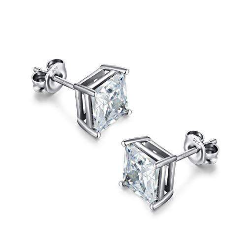 Ohrstecker Damen Herren Weißgold 925 Sterling Silber Zirkonia Swarovski Diamant Ohrstecker 6mm