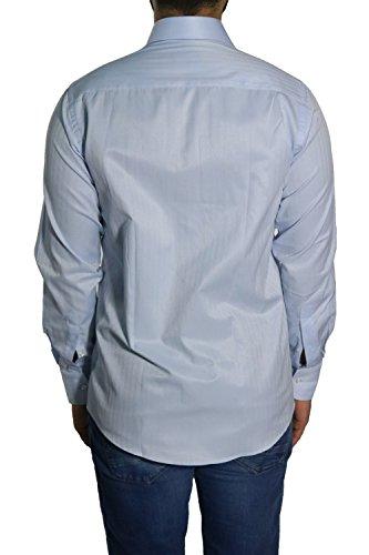 MUGA Homme Chemise à manches longues Bleu clair
