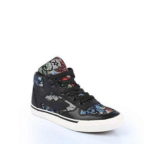 Ideal Shoes Herren-Sportschuhe mit Blumen und Spitze Tori Schwarz - Schwarz