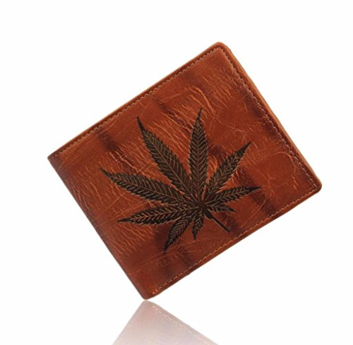 Für Cash-geldbörse Männer (Geldbörsen, Rcool Männer Blatt Leder Card Cash Bifold Geldbörse)