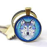 Wolf Schlüsselanhänger Wild Jewelry Holz Schlüsselanhänger