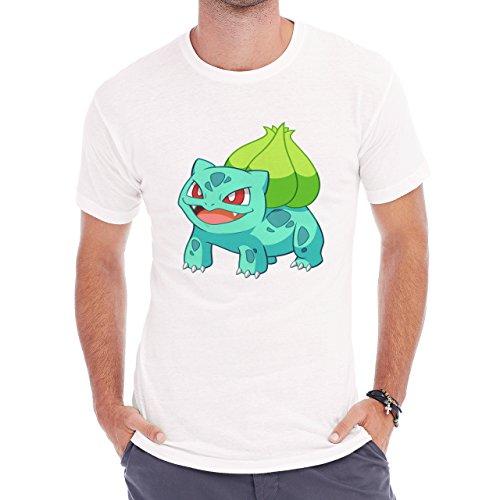 Pokemon Bulbasaur First Generation Grass Green Light Herren T-Shirt Weiß