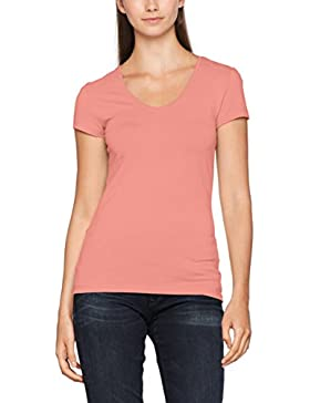 ONLY Damen Onllive Love New Ss V-Neck T-Shirt
