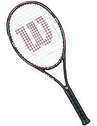 Wilson Racchetta da tennis unisex, Per gioco in tutte le aree, Per giocatori amatoriali, Drone Tour 100, Misura 3, Argento/Nero/Rosso, WRT57770U3