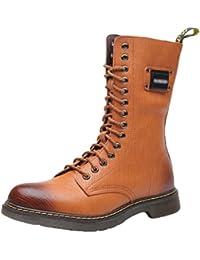 836e391a10489 YuanDian Homme Martin Bottes Boots Hiver Outdoor Militaire Tactiques  Mi-Mollet Haute Doublure Chaud Lacets