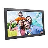 XC Digitaler Fotorahmen 18,5 Zoll, HD 1080P Vollformat HDMI-Schnittstelle Wandhalterung elektronisches Fotoalbum, Black