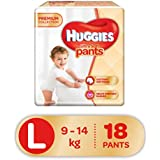 Huggies Ultra Soft Pants Large Size Premium Diapers (18 Counts)