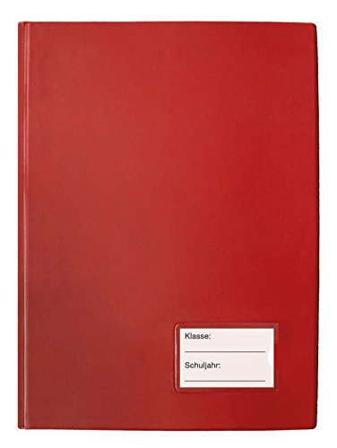 TimeTEX Klassenbuch mit PU-Einband - Format: A4-Plus - Rot - 10562