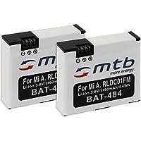 2 Baterías [1160 mAh   3.8V   Li-Ion] para Xiaomi mijia Mini 4K   reemplaza Xiaomi RLDC01FM