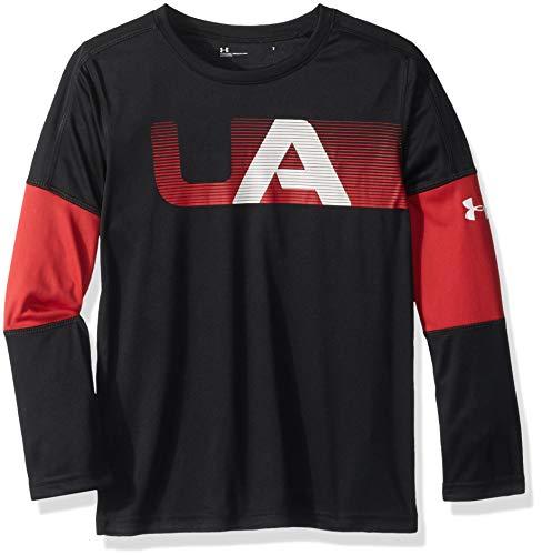 Long Sleeve Graphic Tee (Under Armour Jungen Long Sleeve Graphic Tee T-Shirt, Black Headliner, 2 Jahre)