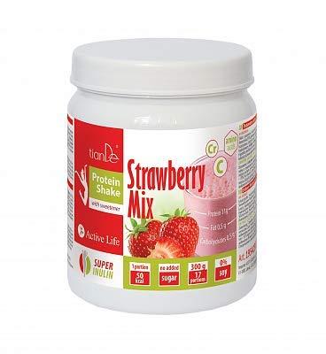 Erdbeeren Protein Cocktail-Mix mit Süßstoff, TianDe 195423, Gewicht: 300 g, Mit Erdbeeren aromatisierte Metamorphose
