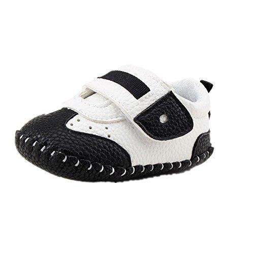 Culater® Ragazze del bambino ragazzi fino pattini della greppia Prewalker Sneakers (1.5, Nero)