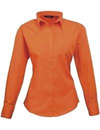 Premier Damen Popeline Bluse / Arbeitshemd, langärmlig