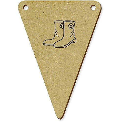 5 x 70mm 'Bottes en caoutchouc' fanions triangles en bois (BN00008843)