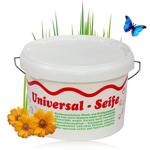 Aufstieg Qualität Universalseife 3,5 kg Eimer Pastös | Neutralseife | Universalreiniger für Haushalt und mehr | Hochkonzentrierte Wasch- und Reinigungspaste | PH-neutral | Biologisch abbaubar