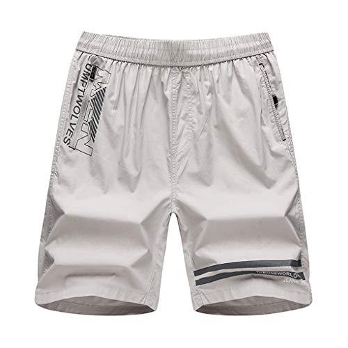 Nadelstreifen-kleid-shorts (mxjeeio Herren Lose Shorts Sommer Herren lässig locker Bedruckte Five-Pants Herren Cargo Hose Shorts Bermuda Kurze Hose Chino Jogger Hose)
