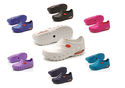 Oxypas Dynamic Washable, Slip-resistant, Antistatic Unisex Nursing Shoes with Postural Support in Lilac Size EU 39 / UK 6 Blu (Blu)