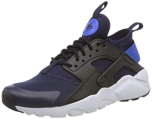 Nike Air Huarache Run Ultra GS, Chaussures de Running Compétition garçon, Multicolore (Obsidian/Signal Blue-Black 410), 37.5 EU
