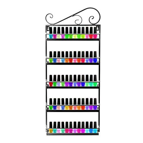 black-metal-nail-polish-wall-rack-organizer-holds-50-bottles-essential-oils-mountable-5-tier-organiz