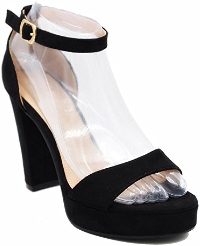 King Of Shoes Tira de Tobillo de Material Sintético Mujer -