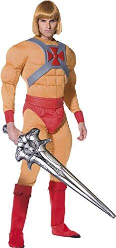 Film & TV He Lizenzprodukt Fancy Kleid ER Mann oder Prince Adam Kostüm orange Gr. M, (Er Dress Fancy Mann Kostüm)