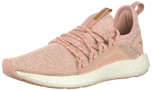 PUMA Damen NRGY Neko Knit Turnschuh Peach Beige Team Gold, 34 M EU