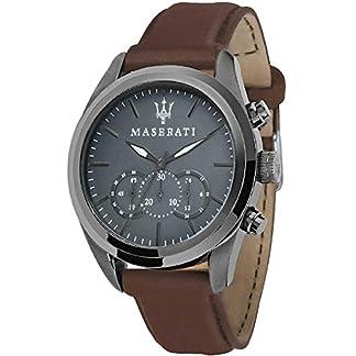 MASERATI Reloj Cronógrafo para Hombre de Cuarzo con Correa en Cuero R8871612018