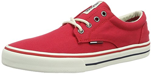 Tommy Hilfiger V2385ic 1d, Sneakers Basses Homme Rouge (Tango Red 611)