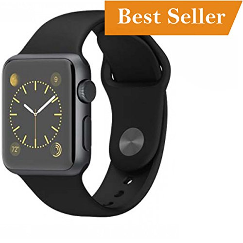 Apple iPhone 6 / 7 64GB Compatible Bluetooth Smart Watch All 3G,4G Phone With Camera and Sim Card Support With Push Messages For Apps like Facebook and WhatsApp Touch Screen QQ, WeChat, Twitter, Time Schedule, Read Message or News, Sports, Health, Pedometer, Sedentary Remind & Sleep Monitoring, Better Display, Loud Speaker, Microphone Android/IOS with activity trackers and fitness band features by Meya Happy 41tZvw4Z5bL