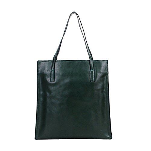 PACK Leder Handtaschen Mode Casual Schultertasche Einkaufstasche Mama Tasche Koreanische Version Big Bag,E:Beige(vertical) C:DarkGreen(vertical)