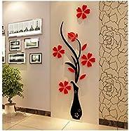 Acrylic 3D Vase wall stickers 80 x 40 cm