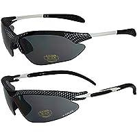 X-CRUZE® 2er Pack X07 Sonnenbrillen Sportbrille Radbrille Fahrradbrille - 1x Modell 2 (weiß) und 1x Modell 2 (rot) PhG5sYOAb