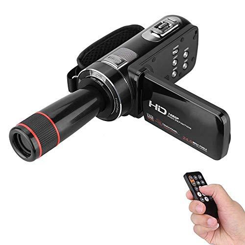 ZAQXSW Videokamera WiFi-Camcorder Digitalkamera Full HD 1080P 16X Digitalzoom-Kamera mit Mikrofon Drehbarer Touchscreen Unterstützung Fernbedienung Zeitraffer Fotografie Nachtsicht