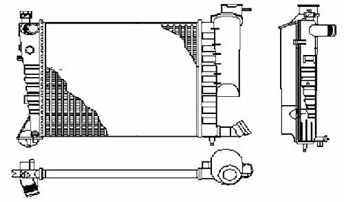 Preisvergleich Produktbild BEHR HELLA SERVICE 8MK 376 710-254 Kühler,  Motorkühlung