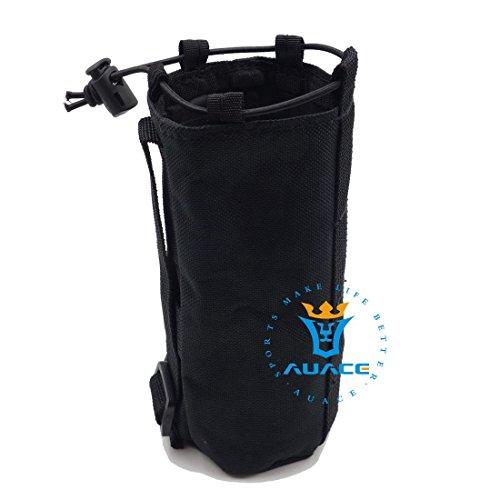 Multifunktions Survival Gear Tactical Beutel MOLLE Tasche Armee Wasser Flasche Tasche, Outdoor Camping Tragbare Travel Bags öffnen Top Wasser Flasche Tasche BK