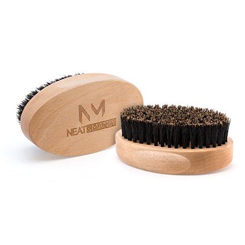 Bartpflege Set, Bartbuerste Wildschweinborsten & Bartkamm aus Holz, Bartschere Abbildung 3