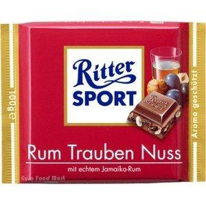 (Ritter Sport Rum Raisin Nuts 100g (12-pack) by Ritter Sport Rum Raisin Nuts 100g (12-pack))