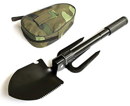 Détecteur de métaux prenant en charge outils kit Doré Finder Pelle militaire Pelle pliante survie Spade urgence Jardin Camping Outil