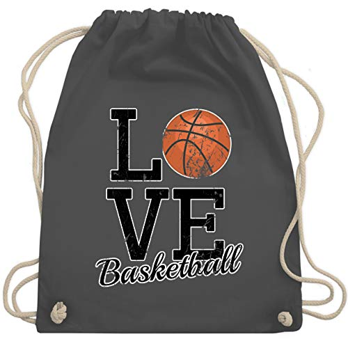 Basketball - Love Basketball - Unisize - Dunkelgrau - WM110 - Turnbeutel & Gym Bag