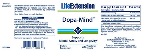 Life Extension – Dopa-Mind – 60 Vegetarian Tablets