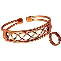 Magnetischer Kupfer Armband und Linien effekt Magnetring mit Geschenkverpackung für herren oder damen - Großer... preisvergleich bei billige-tabletten.eu