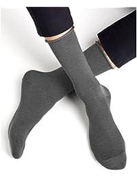 BLEUFORÊT - Chaussettes Coton Non Comprimantes Veloutées - Gris, 39/42