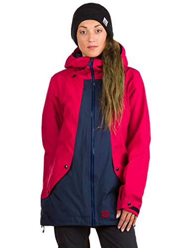 Haus-snowboard-hose (Sweet Protection Damen Chiquitita Jacket, Rubus Red/Midnight Blue, M)