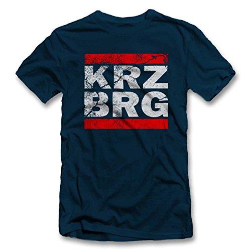 Kreuzberg Vintage T-Shirt S-XXL 12 Farben / Colours Navy Blau