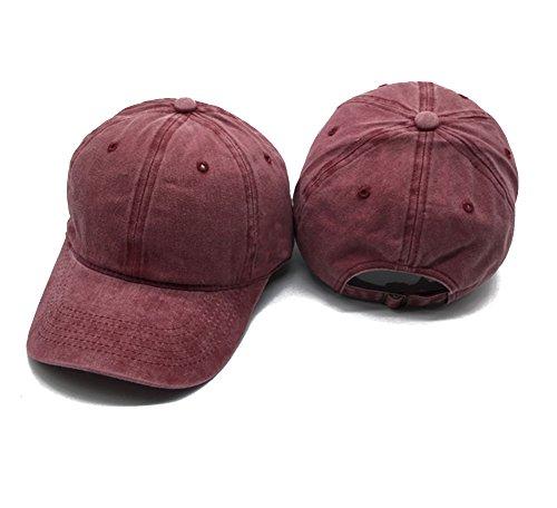 Imagen de leisial  de béisbol con algodón ocio sombrero de sol al aire libre deporte hats hip hop verano para hombre mujer,rojo de vino alternativa