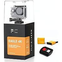 Caméra d'Action 4K par Fluid & Form - Application WiFi & iSmart Rapide et Facile - Télécommande 2.4G Pratique - Piles Longue durée de 1350mAh (2 Piles sont incluses)