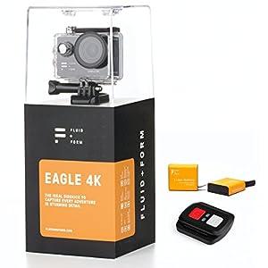 FLUID & FORM Action-Kamera – Action Cam 4K Schnelle und einfache WiFi & iSmart App – Praktische 2,4 G-Fernbedienung – Langlebige 1350 mAh Batterien (2 Batterien enthalten)