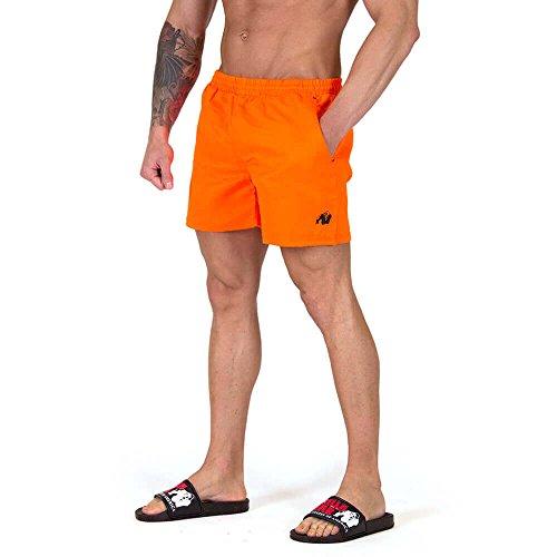 Gorilla Wear Miami Shorts - neo orange- Bodybuilding und Fitness Short für Herren, 4XL