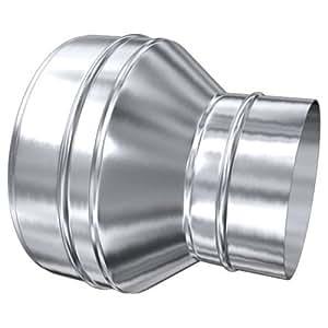 MK sp. Z o.o. Schornstein, Übergang MKD 250 mm (310 mm) - MKS 250 mm aufgeweitet Edelstahl glänzend